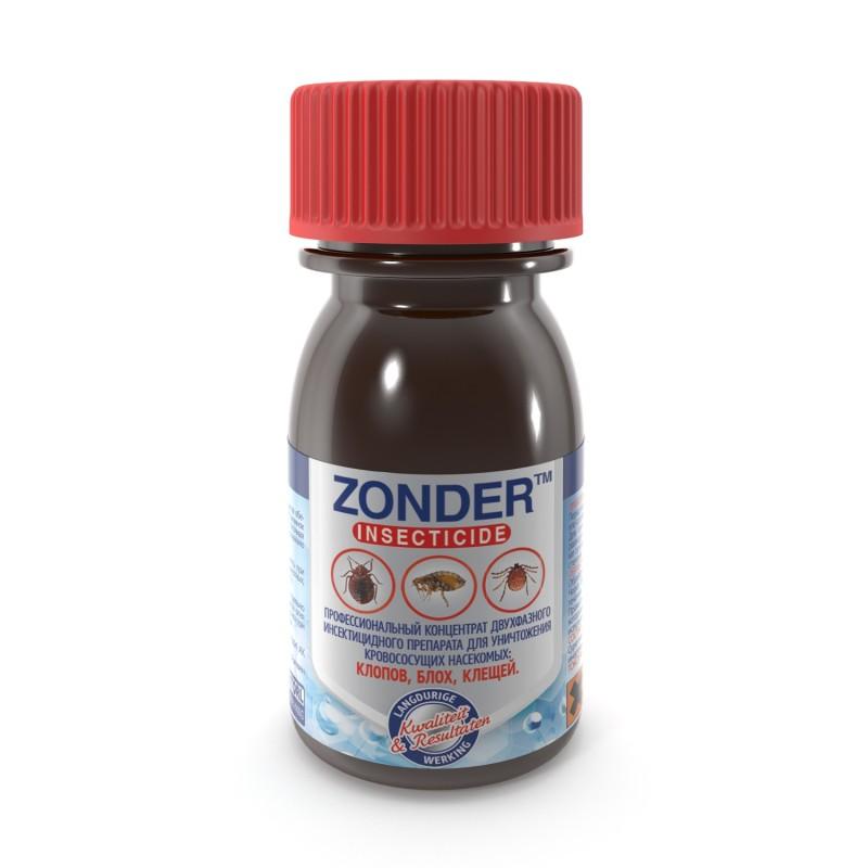 ЗОНДЕР (ZONDER) средство от постельных клопов, блох и клещей. 50 мл (Россия)